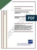 Exposure Draft Spa 610 - Penggunaan Pekerjaan Auditor Internal