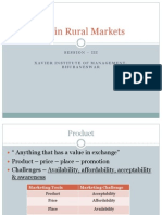 Session III- Rural Marketing