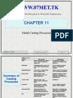 18968489 Casting Ch 10 Metal Casting Process
