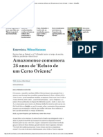 AmazonenseComemora 25 Anos de 'Relato de Um Certo Oriente' - Cultura - Estadão
