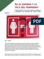 CONTRA EL SOFISMA Y LA DIALÉCTICA DEL FEMINISMO- por Herta