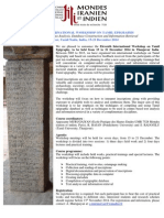 Eleventh Workshop Tamil Epigraphy
