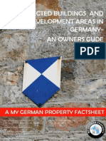 PROTECTED BUILDINGS  AND REDEVELOPMENT AREAS IN GERMANY- AN OWNERS GUDE