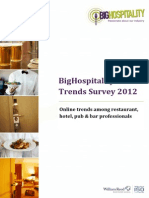 BigHospitality Online Trends Survey 2012