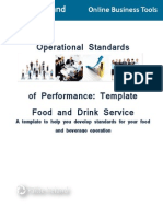 SOP Template Food and Drink Service OBT 08LTB OSP T1FDS 11-12-3