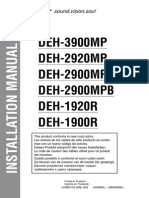 Pioneer DEH-2900MP Installation Manual En