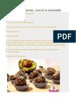 Tartufini Al Cacao, Cocco e Avocado