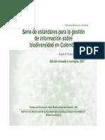 Estándares Para La Gestión de Informacion Sobre Biodiversidad Colombia