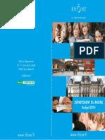 Budget  2014 Conseil général du rhône