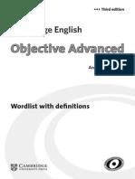 Wordlist With Definitions CAE