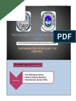 Contaminacion Vehicular y Su Control
