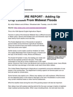 AGRICULTURE REPORT - Adding Up Crop Losses From Midwest Floods