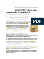 AGRICULTURE REPORT - Honey Bee Losses Still a Problem in US