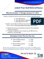 2014 Year End HSA Referral Bonus