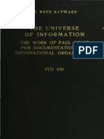 The Universe of Information - Paul Otlet by W. BOYD RAYWARD