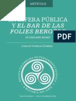 La esfera pública y el bar de las Folies