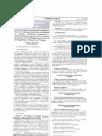 Decreto Supremo N° 012-2014-TR - Aprueba el Registro Único de Información sobre accidentes de trabajo incidentes peligrosos y enfermedades ocupacionales