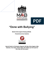 Course Outline for Martial Artists Against Bullying Anti-Bullying Seminar