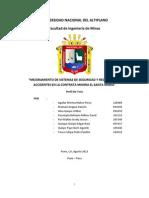 Mejoramiento de Sistemas de Seguridad y Reducción de Accidentes en La Contrata Minera El Santa Maria (1)