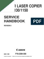 Canon Color Laser Copier 1120-1130-1150 Service Manual