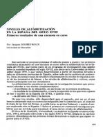 Alfabetización España siglo XVIII