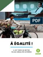 A Egalite - Il Est Temps de Mettre Fin Aux Inegalites Extremes - Rapport Oxfam