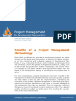 PM4DEV Benefits of Project Management Methodology