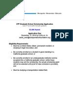 CTF Graduate School Scholarship App