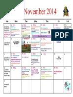 St. Mary Calendar November