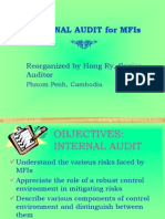 Internal Audit for MFI