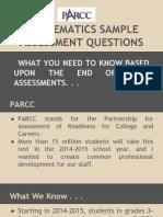 parcc mathematics practice test questions information