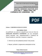 Ida Maria Cruz x Denilson Augusto Guerreiro x Petição Requerendo o Julgamento Antecipado Da Lide
