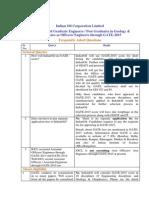 Iocl.com Download Recruitment Engineers 2014 FAQ