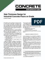 Slab Design-Industrial Concrete Floors on Grade