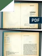 Livro - La-Identidad-seminario-Interdisciplinario-dirigido-por-Claude-Levi-Strauss - Versão Em Espanhol - Introdução, Cap. 1 e Conclusões