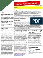 Nov 2014 Newsletter Spanish