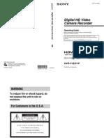 Sony HVR - V1 Manual de instrucciones EN
