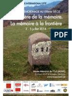 Centre for Memory and Testimony Studies, Séminaire d'Ete
