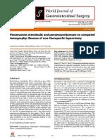Pneumoperitoneum on CT