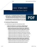 ISO IEC 27001 2013 Translated Into Plain English