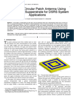 High Gain Circular Patch Antenna Using Metamaterial Supperstrate for DSRS System Applications