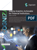 Making Analytics Actionable for Financial Institutions (Part II of III)