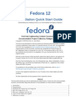 Fedora 12 Installation Quick Start Guide