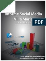Informe Social Media Villa María Octubre 2014