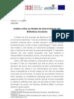 2ª sessão - Análise crítica ao modelo de Auto-avaliação