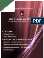 The PUMBA Gazette November 2009 Edition