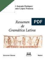 José Antonio Enriquez & Antonio López Fonseca, Resumen de Gramática Latina