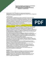 Reglamento de Registro de Instaladores de Gas Natural