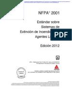 Nfpa 2001 (2012e)- Normas Sistemas e Extinsión de Indendios Con Agentes Pimpios