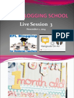 EFL Blogging School Live Session 3